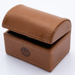 CUFFLINK LEATHER BOX: BROWN