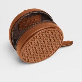 The LEICA | ZEGNA Round Wallet, Vicuna
